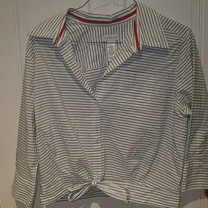 Stripped Liz Claiborne button up blouse